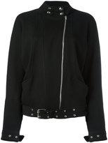 IRO asymmetric zip biker jacket - women - Cotton/Elastodiene/Viscose - 38