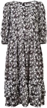 Comme des Garçons Comme des Garçons Floral Print Midi Dress