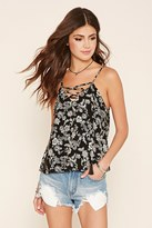 Forever 21 FOREVER 21+ Floral Paisley Lace-Up Top