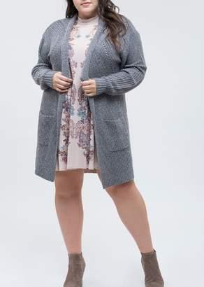 Blu Pepper Patch Pocket Knit Cardigan (Plus Size)