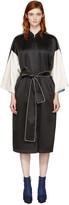 Opening Ceremony Reversible Black Silk Kimono Robe Coat