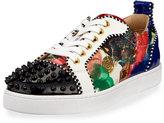 Christian Louboutin Flat Louis Junior Red Sole Sneaker, Multi