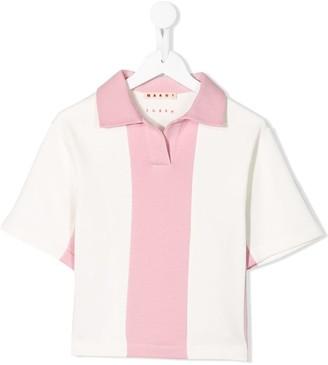 Marni Panelled Open-Collar Polo Shirt
