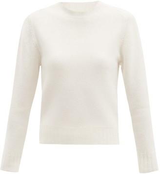 Jil Sander Cropped Boiled Wool Sweater - Ivory