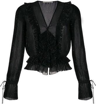 Marco De Vincenzo glitter Georgette blouse
