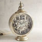 Pier 1 Imports Lantern-Shaped Desk Clock with Gears