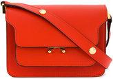 Marni Mini Poppy Red Trunk shoulder bag