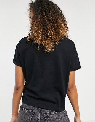 New Look boxy tee in black