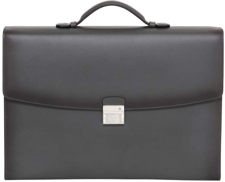 Montblanc Leather Single Gusset Briefcase