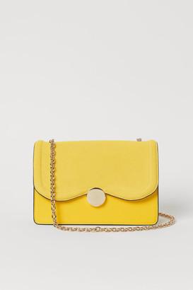 H&M Suede-detail Shoulder Bag - Yellow