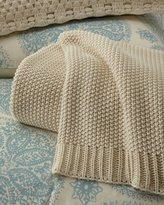 Pine Cone Hill Remy Knit Ivory Blanket Full
