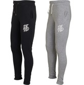 DFND London Mens Wright Two Pack Joggers Grey Marl/Black