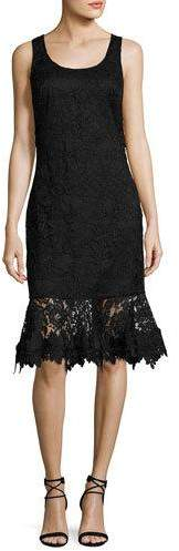 Sachin + Babi Attitude Sleeveless Lace Flounce Cocktail Dress