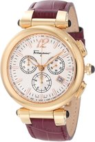 Salvatore Ferragamo Women's F77LCQ5091 SB42 Idillio Gold Ion-Plated Watch with Brown Leather Band