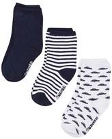 Mayoral Pack of 3 Blue, Car Print and Stripe Socks