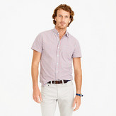 J.Crew Secret Wash short-sleeve shirt in red tattersall