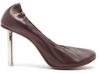Vetements Lighter-heel Leather Ballerina Pumps - Burgundy