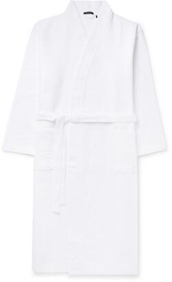 Schiesser Waffle-Knit Cotton Robe