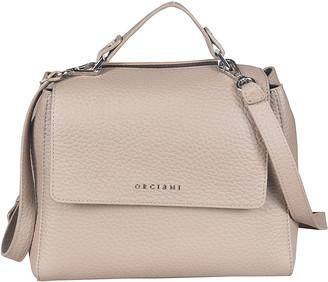 Orciani Logo Flap Classic Shoulder Bag