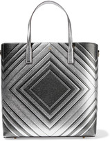 Anya Hindmarch Ebury embossed metallic textured-leather tote