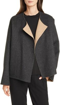 Eileen Fisher Reversible Felt Coat