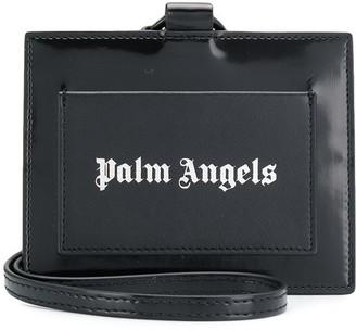 Palm Angels strap logo card holder