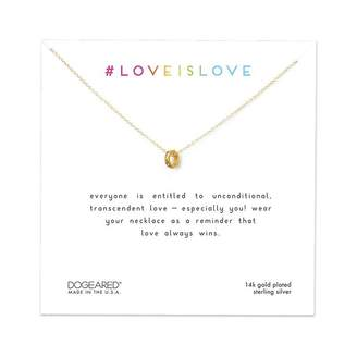 Dogeared LOVE IS LOVE RAINBOW RING NECKLACE