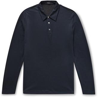 Theory Slim-Fit Tencel Lyocell-Blend Polo Shirt
