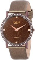 Burgi Women's BUR061BR Swiss Quartz Diamond Strap Watch