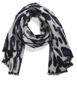 Helen Kaminski Women's Leopard Print Brushed Silk Scarf