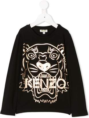 Kenzo metallic tiger print T-shirt