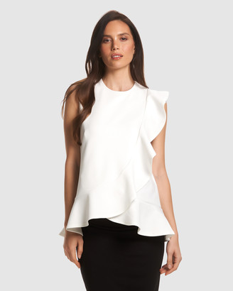 Soon Women's White Maternity Singlets - Sarah Feeding Blouse - Size One Size, M at The Iconic