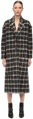 Faith Connexion Long Check Wool Blend Coat