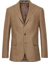 Polo Ralph Lauren - Brown Polo 1 Puppytooth Wool and Silk-Blend Blazer