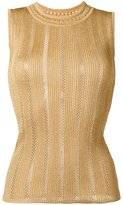 Antonio Berardi ribbed knit tank top - women - Polyester/Rayon - 44
