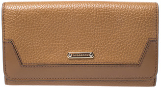 Burberry Tan Leather Flap Continental Wallet