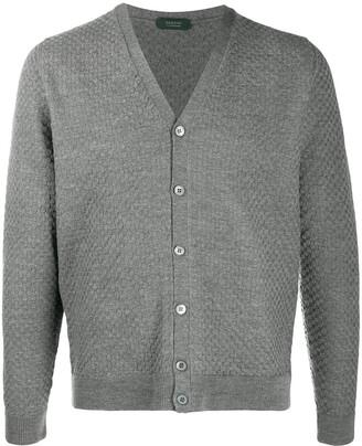 Zanone Woven-Knit Cardigan