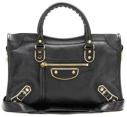 Balenciaga Classic Metallic Edge Small City leather shoulder bag
