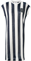 Brunello Cucinelli striped knitted dress - women - Silk/Linen/Flax - M
