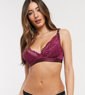 Project Me Projectme Nursing Warrior lace flexiwire plunge bra in amethyst