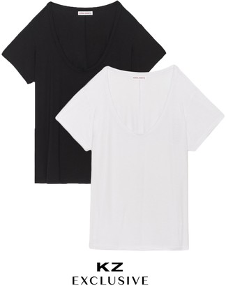 Kirna Zabête The Scoop Neck Tee Bundle, Set of 2
