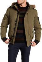 Eleven Paris ELEVENPARIS Ernest Faux Fur Trim Hooded Jacket
