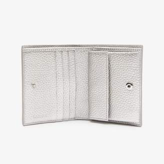 Lacoste Women's Croco Crew Grained Leather Snap Wallet