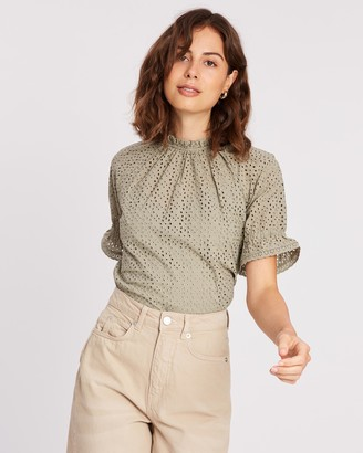 Whistles Augustina Broderie Top