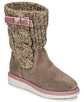 Geox J THYMAR GIRL girls's High Boots in Beige