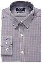 Original Penguin Mini Checkered Slim Fit Cotton Dress Shirt