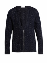 Raey Donegal-wool zip-through cardigan