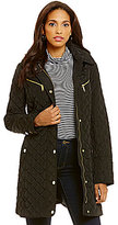 MICHAEL Michael Kors Tie Front Quilted Trench