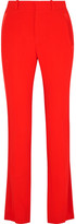Givenchy Satin-trimmed Crepe Straight-leg Pants - Red