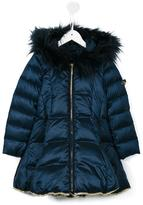 Miss Blumarine hooded padded coat